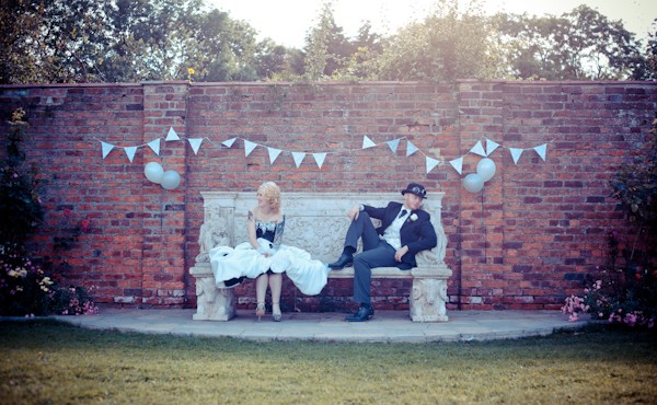 bowburn hall, wedding photography, alternative, tattoo, bride,steampunk,groom,rocknroll,