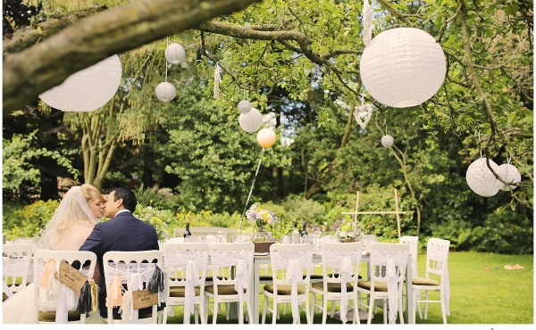 An English County Garden Wedding photography infused with a taste of the Orient at Crook Hall, County Durham